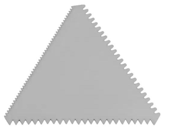 Espátula Triângulo - Espátula Triângulo Em Aço Inox